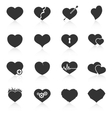 Set of abstract heart icons vector image