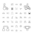 37 transportation icons vector image vector image
