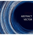Abstract background with chaotic circle lines vector image