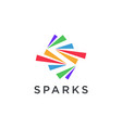 abstract s letter for spark logo icon vector image