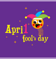 april fools day jester hat silly glasses and must vector image vector image