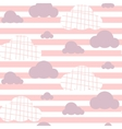 Baby girl seamless pattern Light pink fun vector image vector image