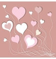 Background With Pink Hearts vector image