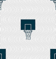 Basketball backboard icon sign Seamless pattern vector image vector image