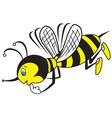 Bee thoughtful vector image