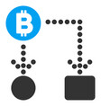 bitcoin cashflow flat icon vector image vector image