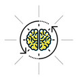 brain in sight - intellect research and knowledge vector image vector image