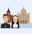 catholic religion pastor vector image vector image