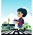 Children to school vector image