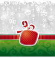 christmas card with abstract gift vector image vector image