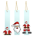 Christmas series Santa Claus character in hanging vector image vector image