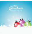 colorful christmas ball with snowflakes vector image vector image