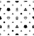 Decoration icons pattern seamless included