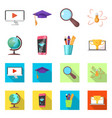 design education and learning logo set vector image vector image