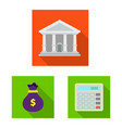design of bank and money logo collection vector image