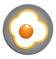 fried eggs with yellow paprika fried eggs with vector image