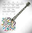 Funky guitar calendar vector image vector image
