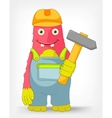 Funny monster contractor vector | Price: 3 Credits (USD $3)