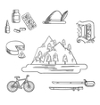 German culture and travel icons vector image vector image