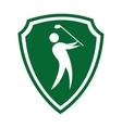 golfer silhouette player isolated icon vector image