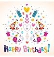 Happy Birthday card 10 vector image vector image
