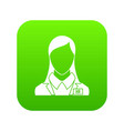 hr management icon digital green vector image