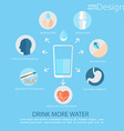 Infographic - use of water for human health vector image