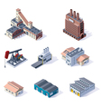isometric industrial buildings vector image vector image