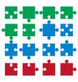 jigsaw pieces puzzle icon vector image