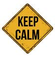 keep calm vintage rusty metal sign vector image
