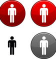 Male button vector image vector image
