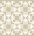 modern golden geometric seamless squares pattern vector image