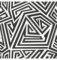 monochrome ethnic seamless pattern vector image
