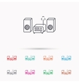 Music center icon Stereo system sign vector image vector image