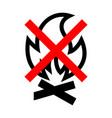 no fire icon vector image vector image