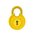 old round-shaped padlock with ornamental engraving vector image vector image