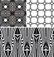 Patterns different seamless black vector image vector image
