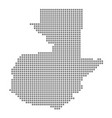 pixel map of guatemala dotted map of guatemala vector image vector image