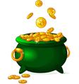 pot gold vector image