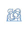 quarrel line icon concept quarrel flat vector image vector image
