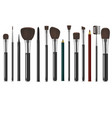 realistic detailed 3d makeup tools set vector image