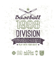 Retro emblem baseball division of college vector image vector image