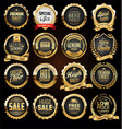 retro vintage black badges and labels collection vector image vector image