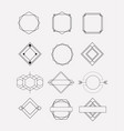 retro vintage insignias sketch set in monochrome vector image vector image