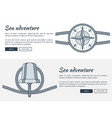 sea adventure web pages set vector image vector image