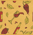 seamless pattern of an alcoholic beverage and vector image vector image