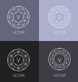 set abstract jewelry logo design templates vector image vector image