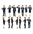set cartoon business people no2 vector image