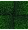 Set Green Square Mosaic Background vector image vector image