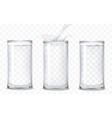 set icons glasses with a drink vector image vector image